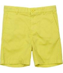 burberry lemon yellow cotton gabardine shorts
