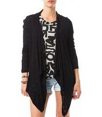 blouse vero moda fast egypt l/s drapy cardigan it 10112493 noir