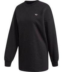 sweatshirt med strasstenar på ryggen