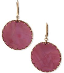 lonna & lilly gold-tone color disc drop earrings