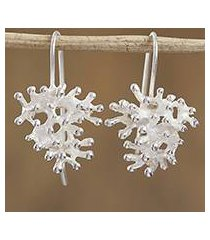 sterling silver drop earrings, 'on the beach' (mexico)
