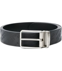 emporio armani all over logo belt - black