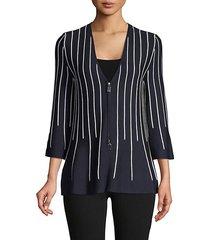 striped wool & silk-blend top
