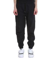 maharishi pants in black polyester