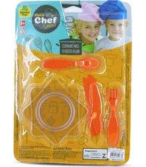 brinquedo de cozinha - mini pratos e talheres 8 peã§as - para meninos e meninas - samba toys - multicolorido - dafiti