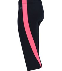 legging corto con franja salmón color rosado,talla xs