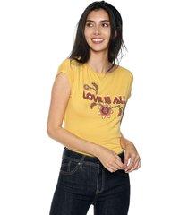 camiseta amarillo-rojo esprit