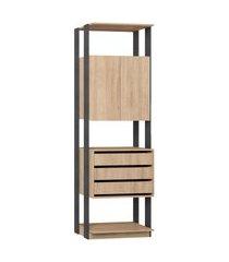 estante armário/gaveteiro carvalho mel/expresso be mobiliário bege