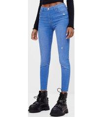 push-up jeans met middelhoge taille
