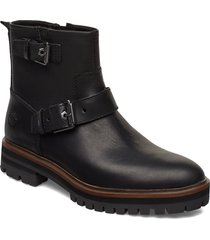london square biker shoes boots ankle boots ankle boots flat heel svart timberland