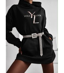 ciepła bluza z kapturem - czarny