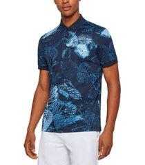 boss men's interlock-cotton polo shirt