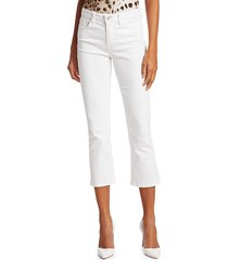 l'agence women's nadia mid-rise crop straight-leg jeans - blanc - size 30 (8-10)