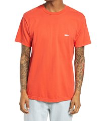 men's obey respect your mother logo graphic tee, size xx-large - red