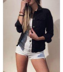 campera negra byh jeans