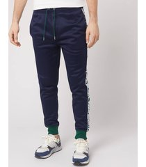 polo ralph lauren men's polo sport stripe fleece track pants - cruise navy - l