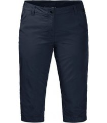 jack wolfskin korte broek women kalahari 3/4 midnight blue
