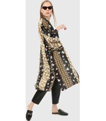 kimono  negro-multicolor paris district