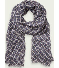 scotch & soda lightweight tencel™ printed scarf