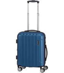 "mancini santa clara collection 20"" lightweight carry-on spinner luggage bag"