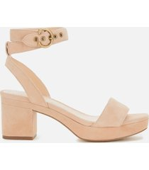 coach women's serena suede platform sandals - beachwood - uk 5