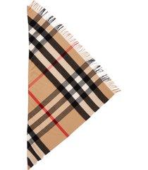 women's burberry mega check cashmere scarf