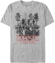 fifth sun men's stranger things the upside down silhouette short sleeve t-shirt