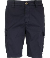 brunello cucinelli garment dyed bermuda shorts in american pima comfort cotton gabardine with cargo pockets