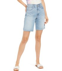 slvrlake london relaxed fit high waist denim shorts, size 28 in temecula sunrise at nordstrom