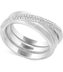 balissima by effy diamond crisscross statement ring (1/3 ct. t.w.) in sterling silver