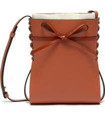 'ikebana' bow detail leather crossbody bag