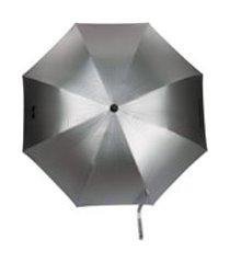 karl lagerfeld guarda-chuva k/ikonik com estampa de logo - prateado