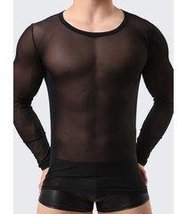 t-shirt slim fit in mesh visibile