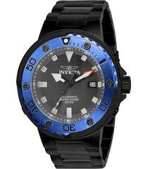 reloj invicta 24466 negro acero inoxidable
