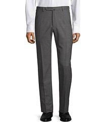 benson straight leg wool trousers