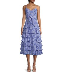 likely women's ariella printed dress - blue - size 8