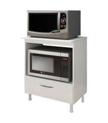 balcáo em mdf para forno e microondas branco lilies móveis