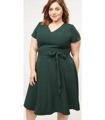 lane bryant women's short lena dress 28 forest green