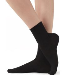 calzedonia short cotton socks with comfort cut cuffs woman black size 36-38