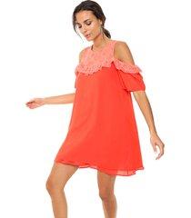 vestido coral caekilia mora