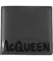 alexander mcqueen 8cc logo billfold wallet