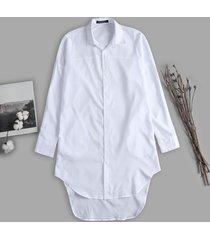 t-shirt manica lunga asimmetrica da uomo camicia a manica lunga color autunno camicia