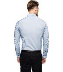 koszula bexley 2627/1 długi rękaw slim fit niebieski