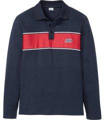 polo a maniche lunghe (blu) - john baner jeanswear