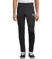 puma men's speed colorblock-side panel track pants - black - size m