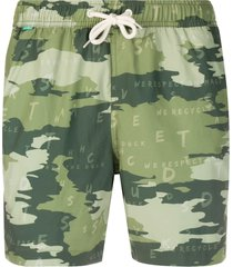 save the duck camouflage print swim shorts - green