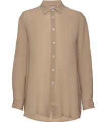 elma shirt blus långärmad beige hope