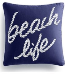 "charter club damask designs beach life ""16x16"" decorative pillow, created for macys bedding"