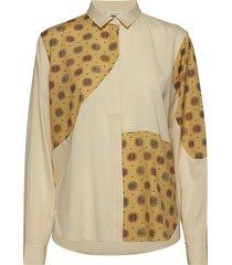 costaros blouse lange mouwen geel totême