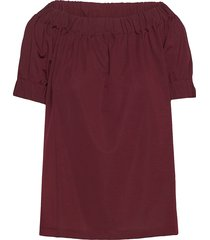 merkitys solid shirt t-shirts & tops short-sleeved rood marimekko
